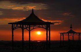 غروب زیبای ساحل بندرعباس
