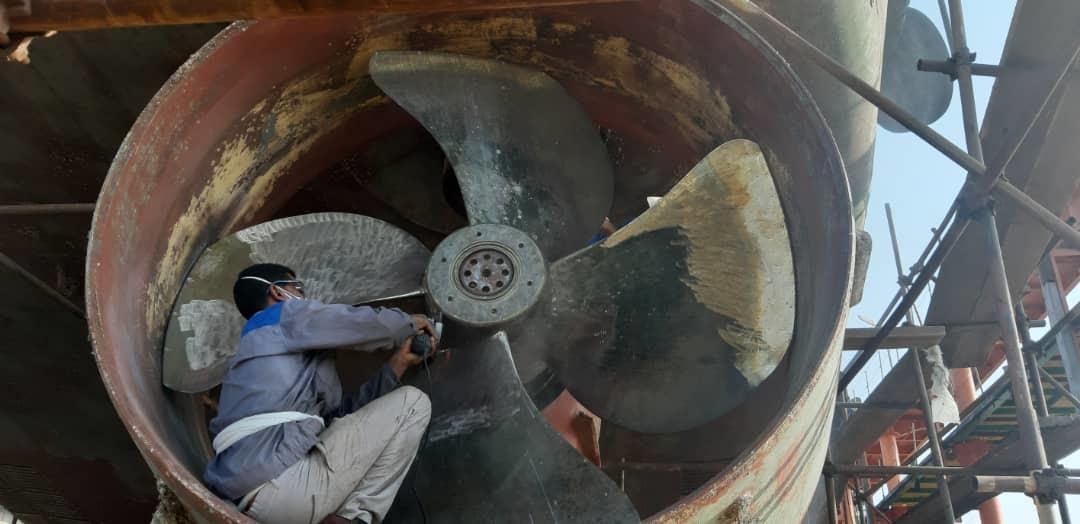 تعمیرات پروانه سیستم رانش یدک کش ، بدون خارج سازی و انتقال پروانه به کارگاه
