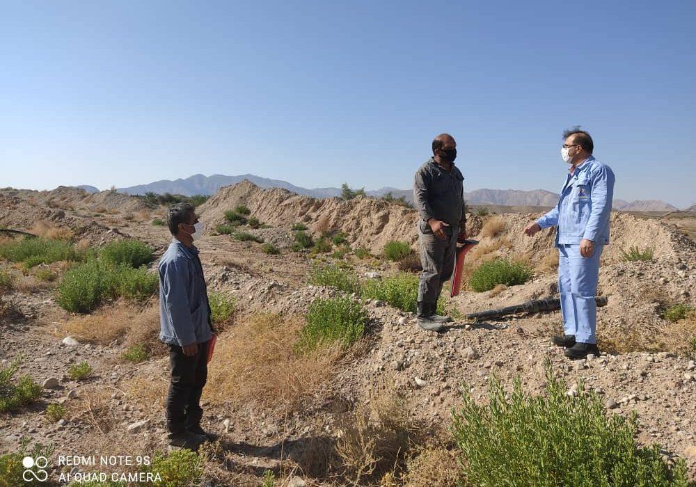 عملیات آزاد سازی و تسطیح مسیر خط ۲۶ اینچ بندرعباس – رفسنجان