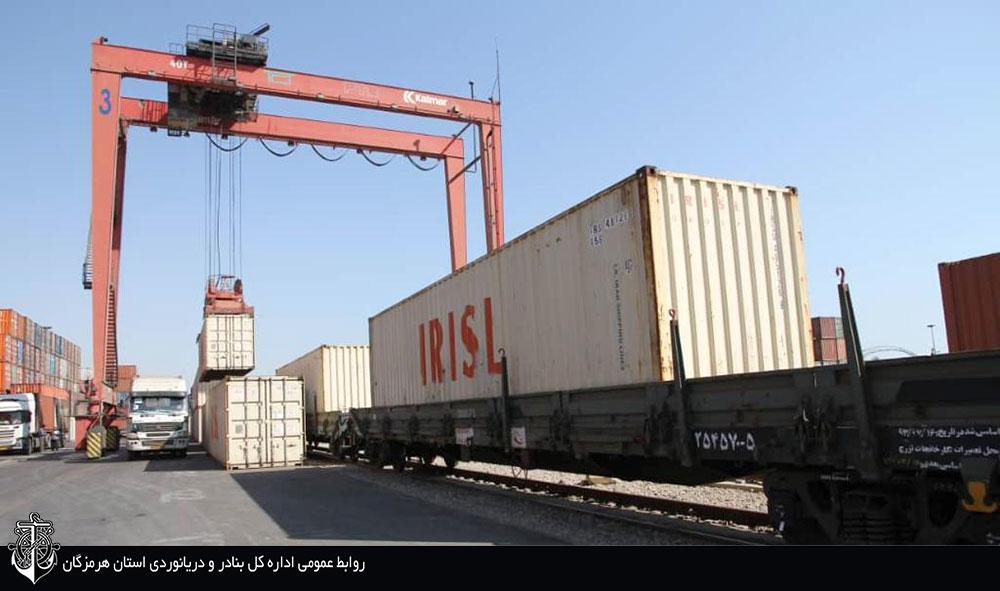 صادرات و واردات ۴.۵ میلیون تن کالا از طریق خطوط ریلی دربندر شهید رجایی / ۱۲ محوطه اختصاصی ریلی در این بندر فعال است