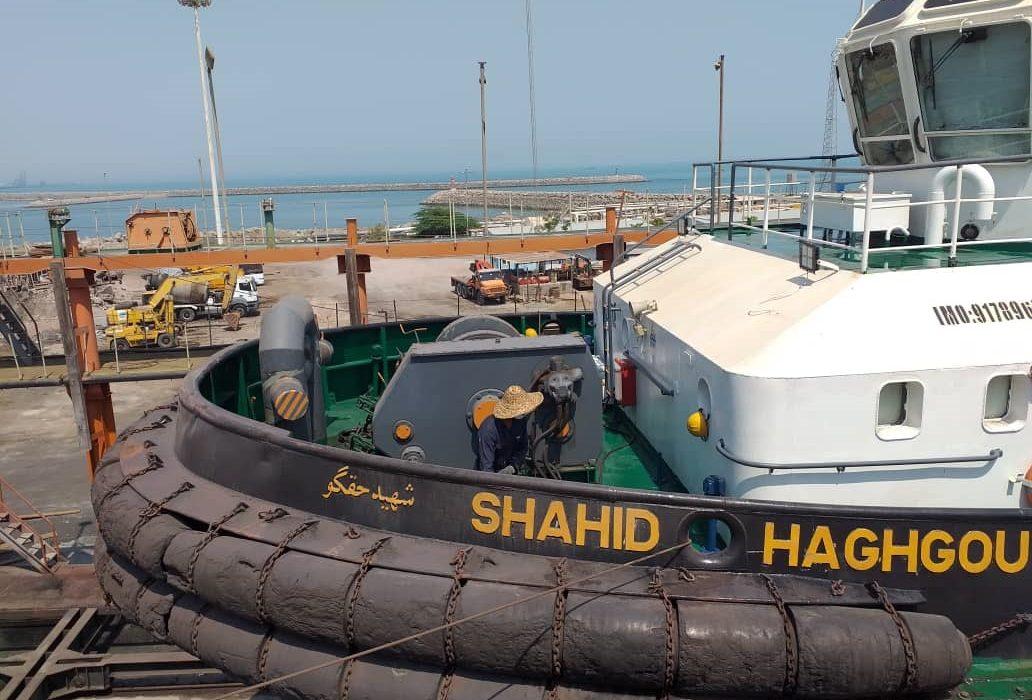 الحاق یدکش پر قدرت شهید حقگو پس از تعمیرات اساسی وزیر آبی به چرخه خدمات حمل و نقل دریایی